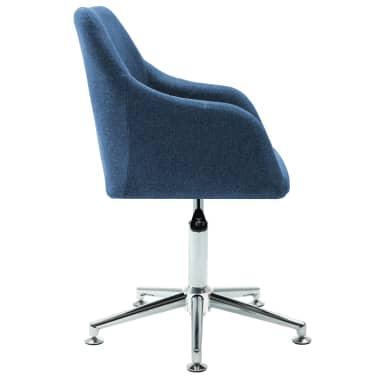 vidaXL Chaise pivotante de bureau Bleu Tissu[3/8]