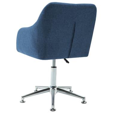 vidaXL Chaise pivotante de bureau Bleu Tissu[4/8]
