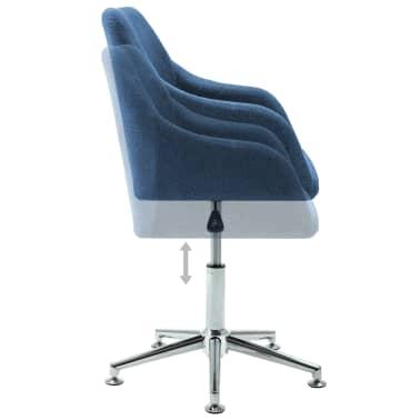 vidaXL Chaise pivotante de bureau Bleu Tissu[5/8]