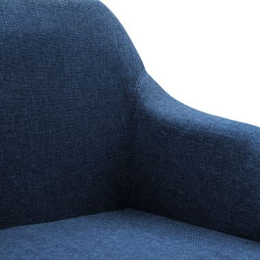 vidaXL Chaise pivotante de bureau Bleu Tissu[6/8]