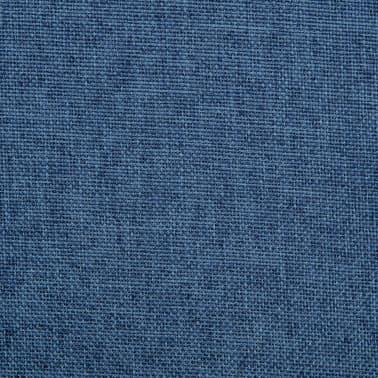 vidaXL Chaise pivotante de bureau Bleu Tissu[7/8]