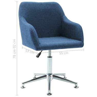 vidaXL Chaise pivotante de bureau Bleu Tissu[8/8]