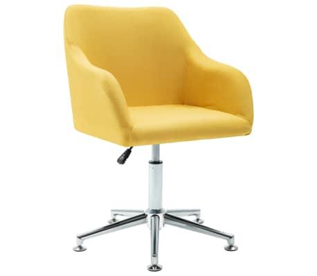 vidaXL Silla de oficina giratoria de tela amarilla