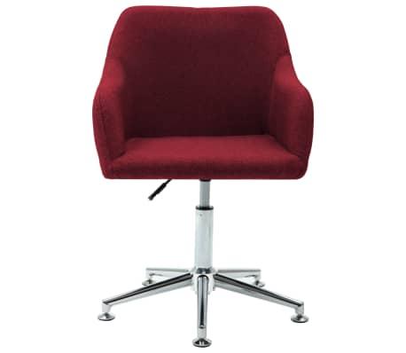 vidaXL Chaise pivotante de bureau Rouge bordeaux Tissu[2/8]