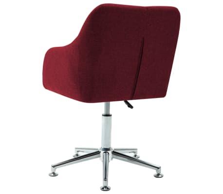 vidaXL Chaise pivotante de bureau Rouge bordeaux Tissu[4/8]