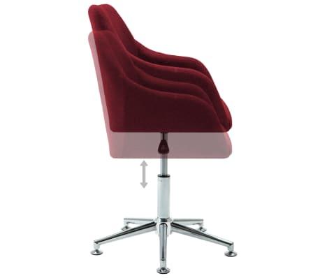 vidaXL Chaise pivotante de bureau Rouge bordeaux Tissu[5/8]