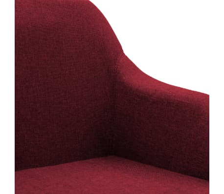 vidaXL Chaise pivotante de bureau Rouge bordeaux Tissu[6/8]