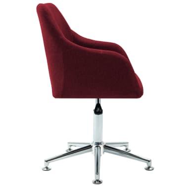 vidaXL Chaise pivotante de bureau Rouge bordeaux Tissu[3/8]