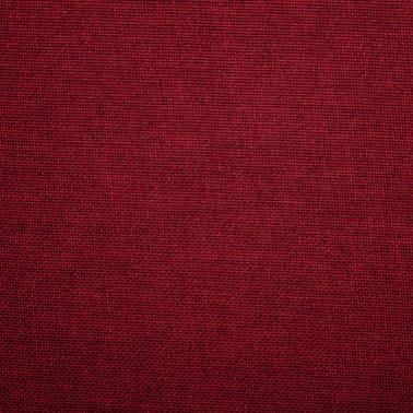 vidaXL Chaise pivotante de bureau Rouge bordeaux Tissu[7/8]