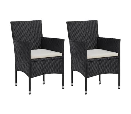 Sedie Per Il Giardino.Vidaxl Set Sedie Da Pranzo Per Giardino 2 Pz In Polyrattan Nero