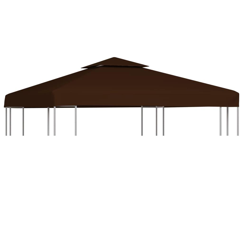 Náhradní střecha na altán 310 g/m² 3 x 3 m hnědá
