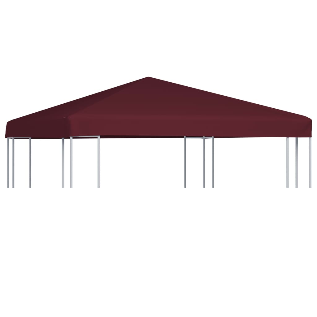 vidaXL Acoperiș pentru pavilion, 310 g/m², roșu bordo, 3 x 3 m vidaxl.ro