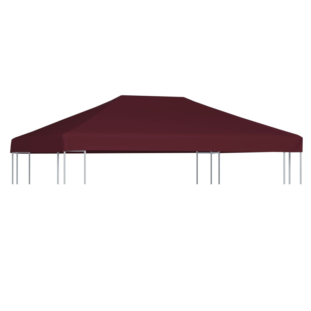 vidaXL Acoperiș pentru pavilion, 310 g/m², roșu bordo, 3 x 4 m imagine vidaxl.ro