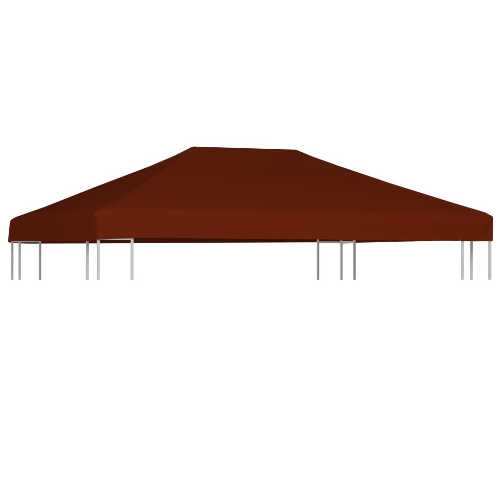 vidaXL Acoperiș pentru pavilion, 310 g/m², cărămiziu, 3 x 4 m poza 2021 vidaXL