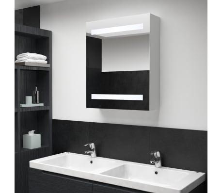 vidaXL Armoire de salle de bain à miroir LED 50x14x60 cm[1/7]