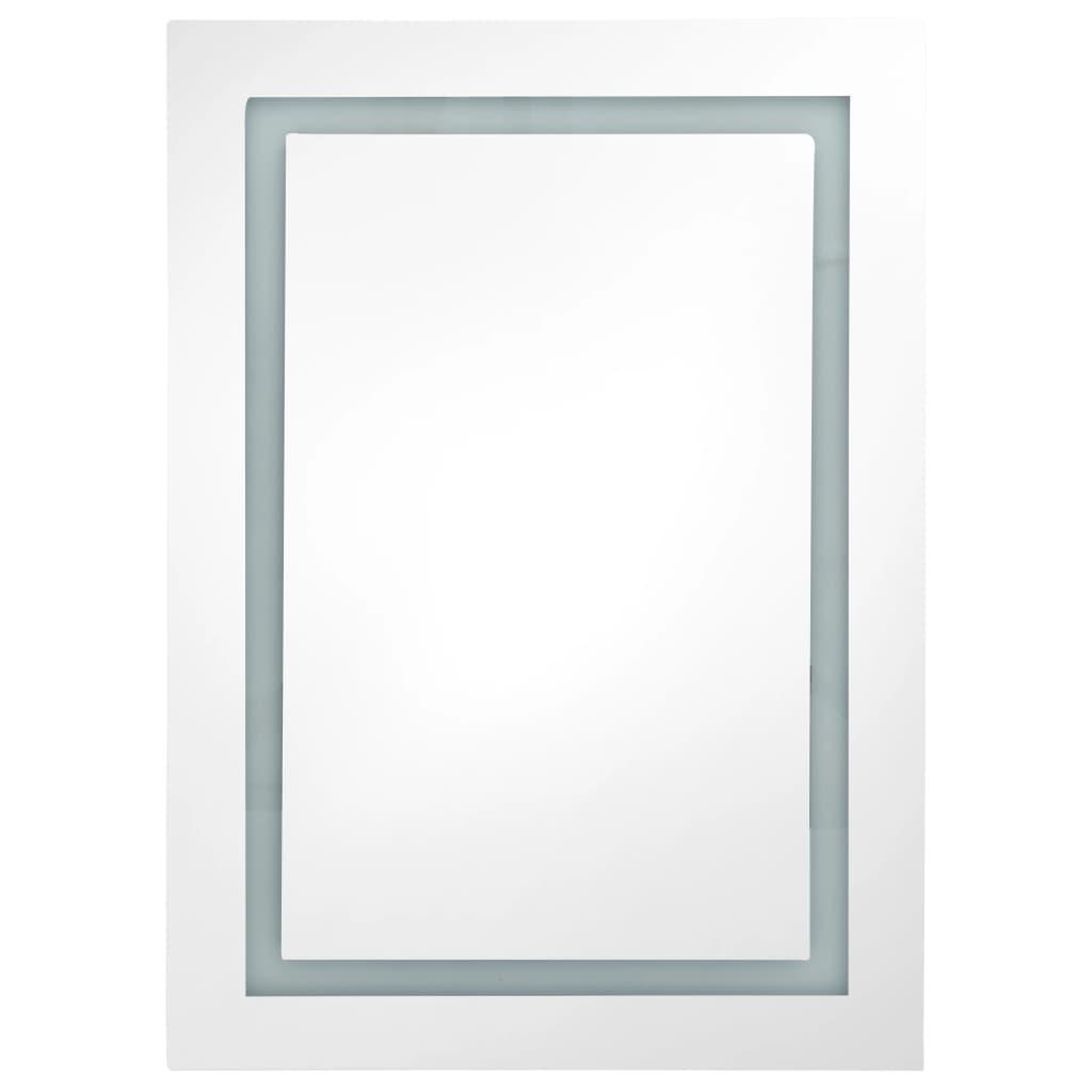 vidaXL Badkamerkastje met spiegel en LED 50x13x70 cm
