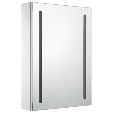 vidaXL Armoire de salle de bain à miroir LED 50x13x70 cm[3/7]