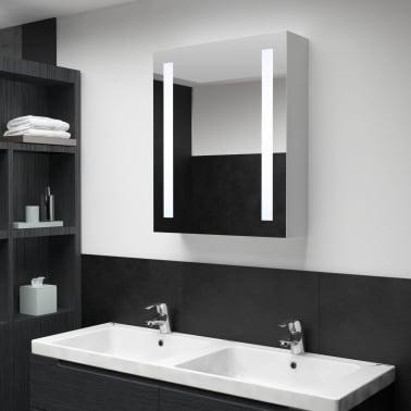 vidaXL Armoire de salle de bain à miroir LED 50x13x70 cm[1/7]