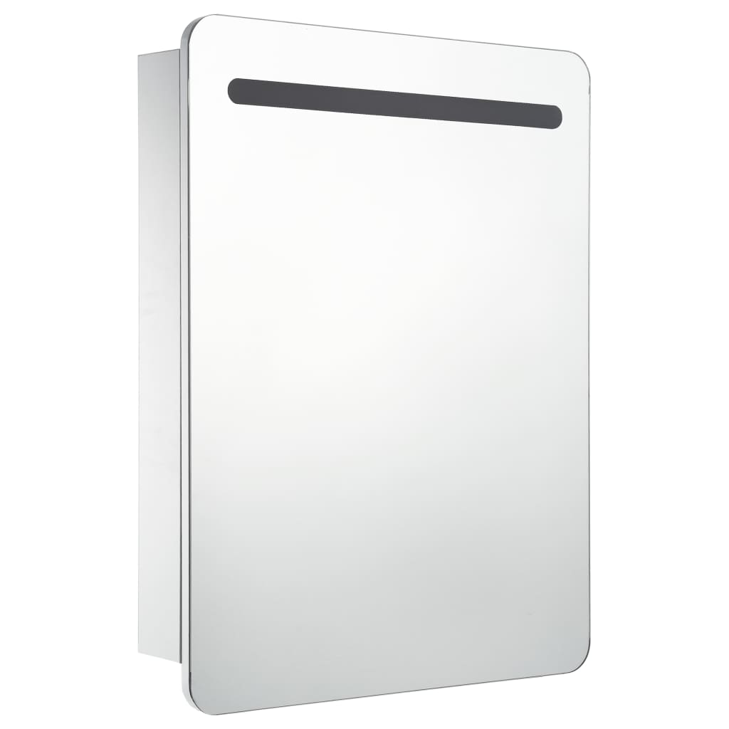 vidaXL Badkamerkastje met spiegel LED 60x11x80 cm