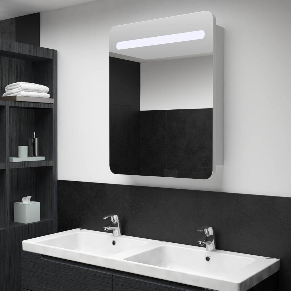 LED koupelnová zrcadlová skříňka 60 x 11 x 80 cm