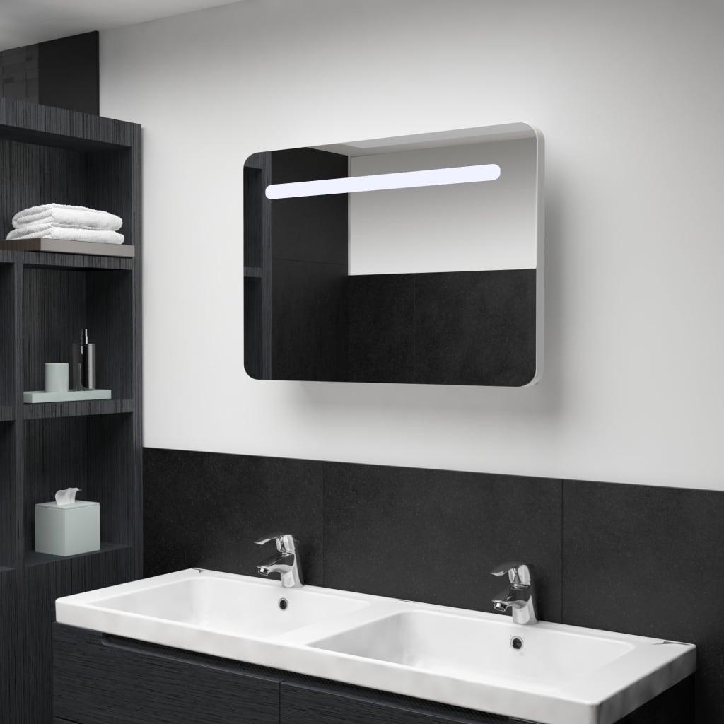 LED koupelnová zrcadlová skříňka 80 x 11 x 55 cm