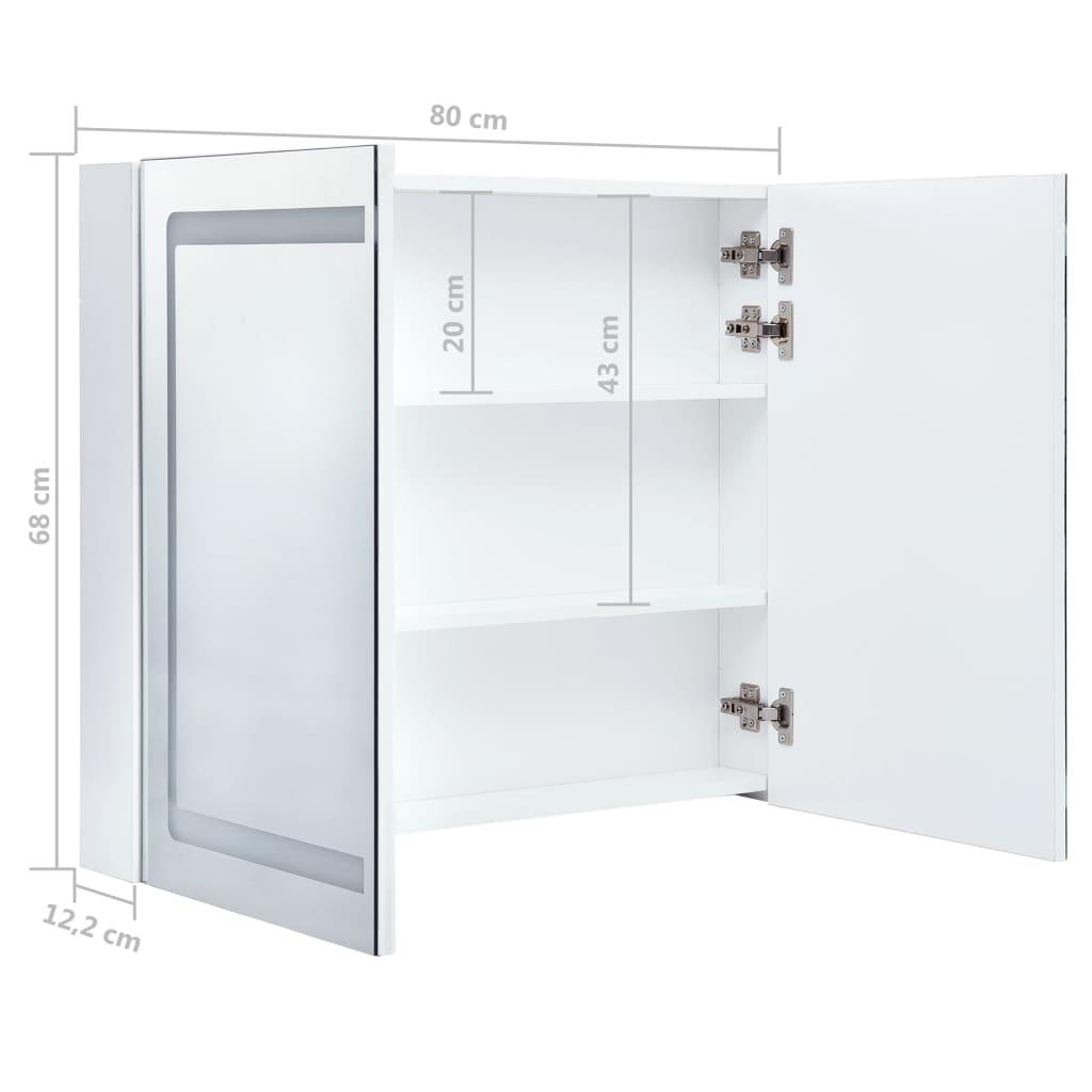 vidaXL Badkamerkastje met spiegel LED 80x12,2x68 cm
