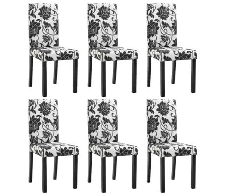 vidaXL Jídelní židle 6 ks černé textil