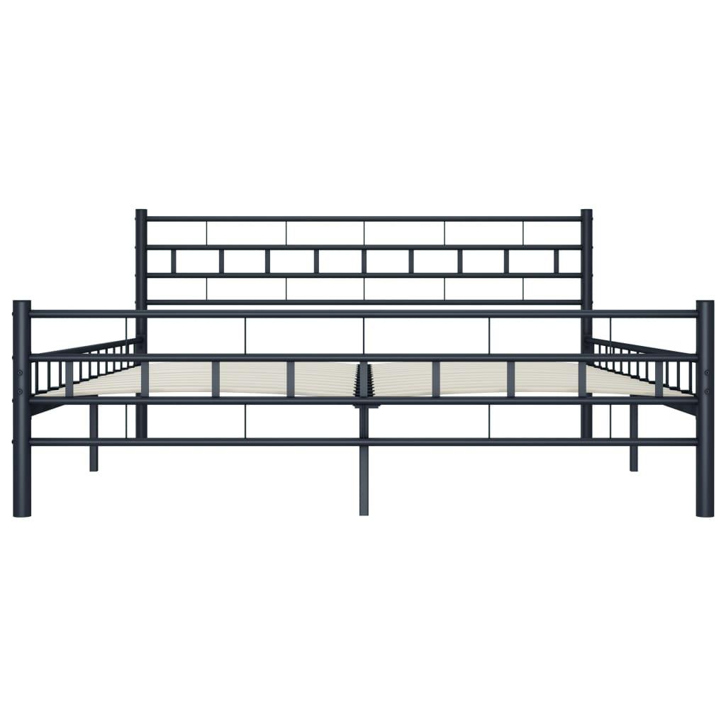 vidaXL Bedframe staal zwart 140x200 cm
