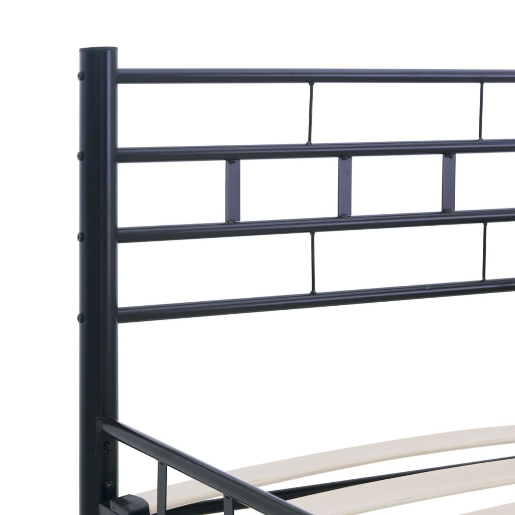 vidaXL Bedframe staal zwart 180x200 cm