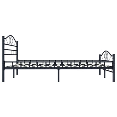 vidaXL Cadre de lit Noir Acier 140 x 200 cm[3/7]