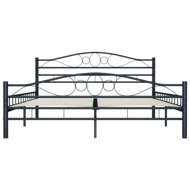 vidaXL Cadre de lit Noir Acier 140 x 200 cm[4/7]