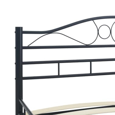 vidaXL Cadre de lit Noir Acier 140 x 200 cm[5/7]