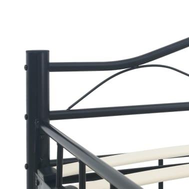 vidaXL Cadre de lit Noir Acier 140 x 200 cm[6/7]