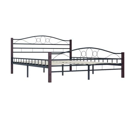 vidaXL Cadre de lit Noir Métal 140 x 200 cm[2/7]