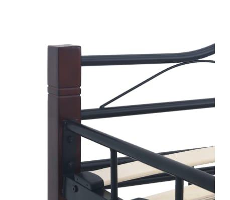 vidaXL Cadre de lit Noir Métal 140 x 200 cm[6/7]