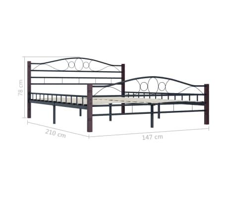 vidaXL Cadre de lit Noir Métal 140 x 200 cm[7/7]
