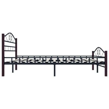 vidaXL Cadre de lit Noir Métal 140 x 200 cm[4/7]