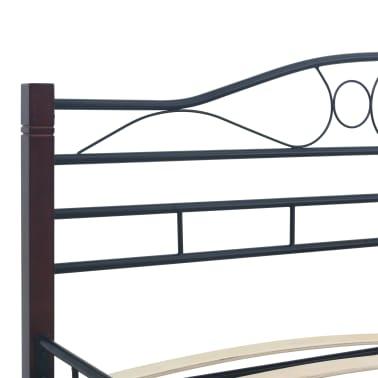 vidaXL Cadre de lit Noir Métal 140 x 200 cm[5/7]