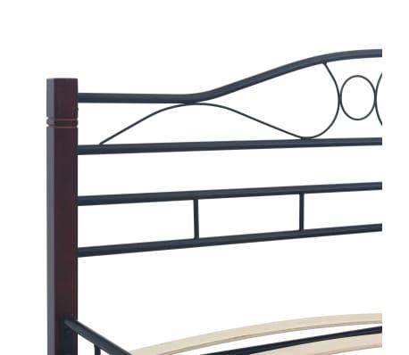 vidaXL Bedframe metaal zwart 160x200 cm[5/7]