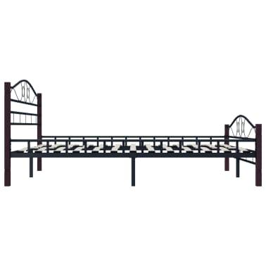 vidaXL Bedframe metaal zwart 160x200 cm[4/7]