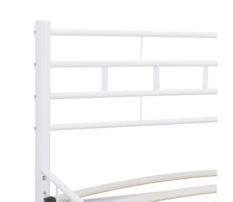 vidaXL Bedframe metaal wit 160x200 cm[5/7]