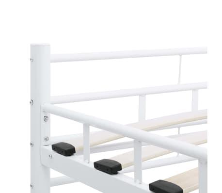 vidaXL Bedframe metaal wit 160x200 cm[6/7]