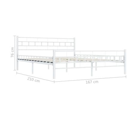 vidaXL Bedframe metaal wit 160x200 cm[7/7]