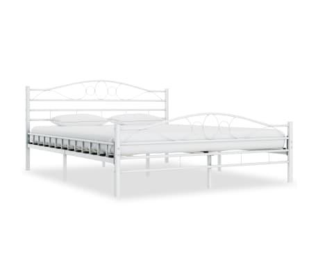 vidaXL Πλαίσιο Κρεβατιού Λευκό 200 x 200 εκ. Μεταλλικό