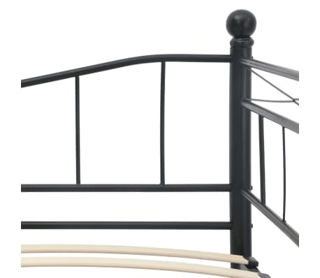 vidaXL Cadre de lit Noir Acier 180x200/90x200 cm[6/8]