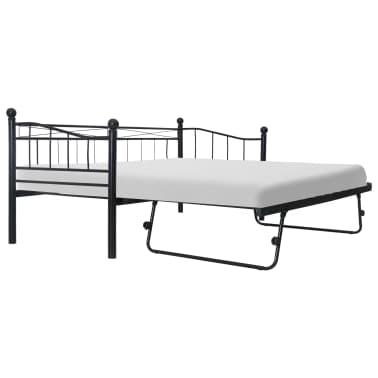 vidaXL Cadre de lit Noir Acier 180x200/90x200 cm[1/8]