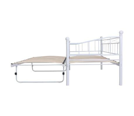 vidaXL Bedframe staal wit 180x200/90x200 cm[4/8]