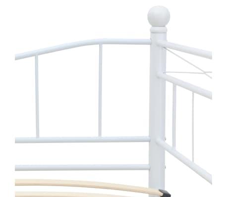 vidaXL Bedframe staal wit 180x200/90x200 cm[6/8]