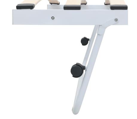 vidaXL Bedframe staal wit 180x200/90x200 cm[7/8]