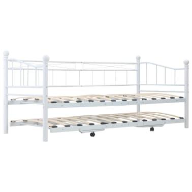 vidaXL Bedframe staal wit 180x200/90x200 cm[3/8]